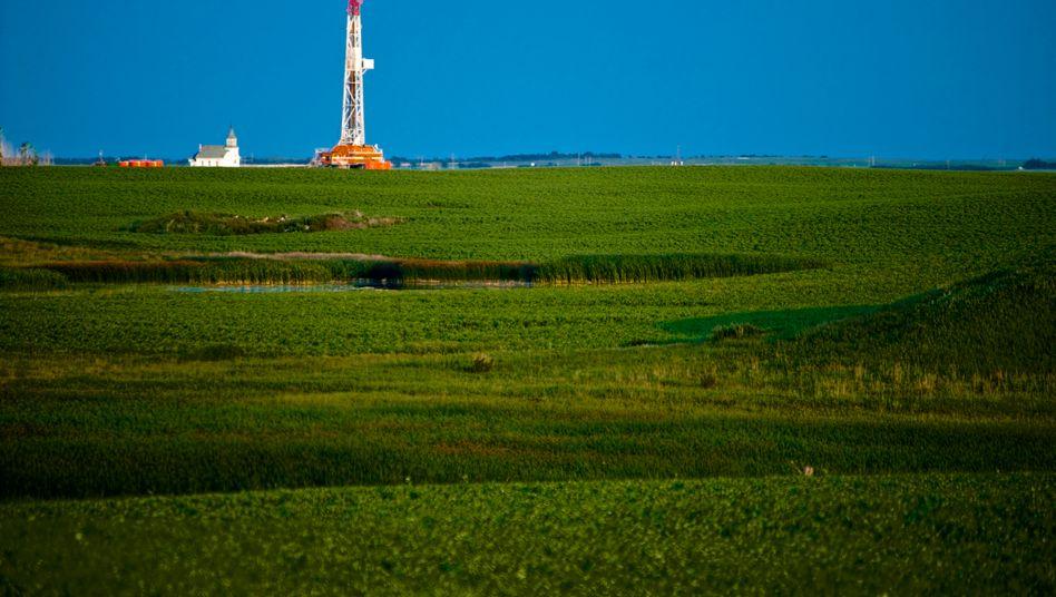 Bohrturm von Continental Resources in North Dakota: Schwarzes Gold im Prärieland