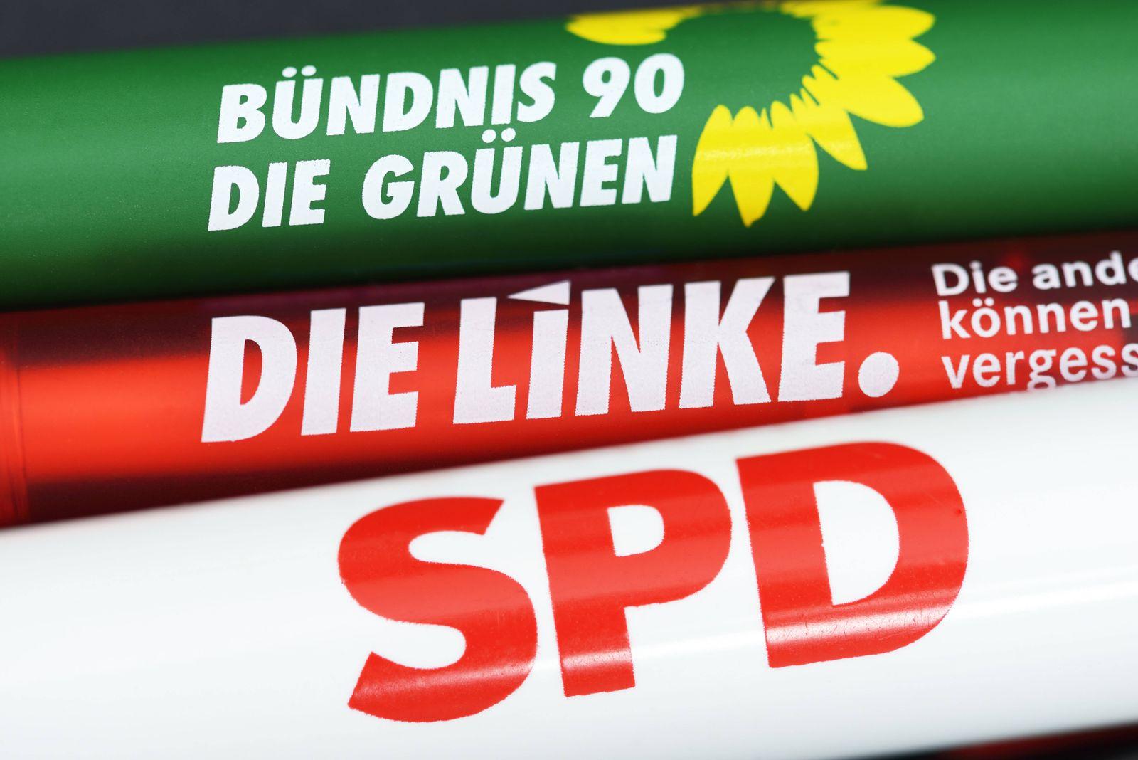 EINMALIGE VERWENDUNG R2G / rot-rot-grüne Koalition / SPD / Linke / Grüne