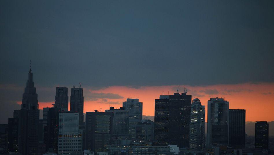 Skyline von Tokio: Die japanische Wirtschaft ist jetzt das dritte Quartal in Folge geschrumpft