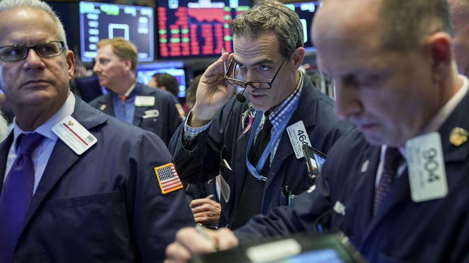 Händler an der Wall Street: Am Mittwoch starteten die Aktienkurse im Minus.