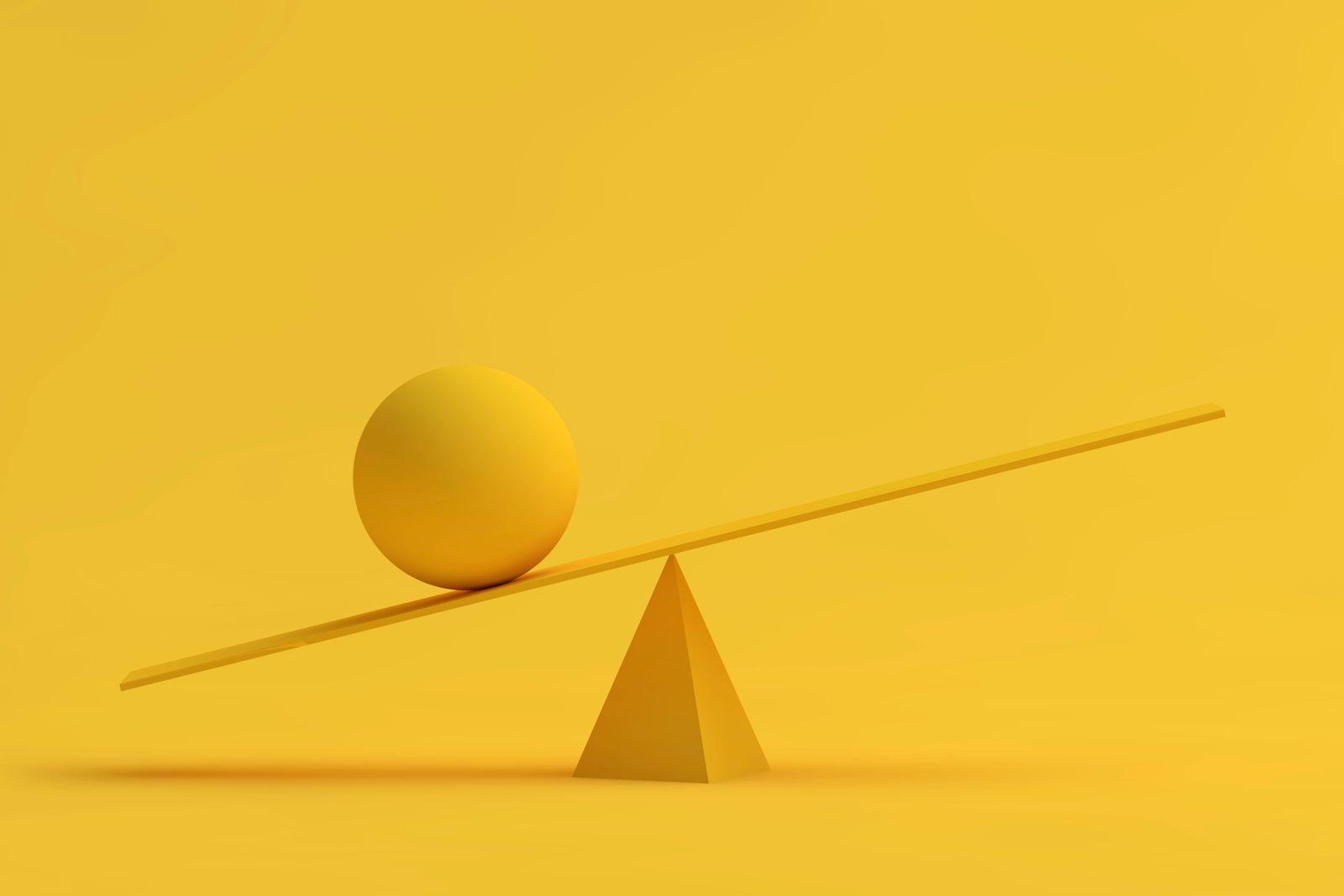 Several balancing geometric shapes