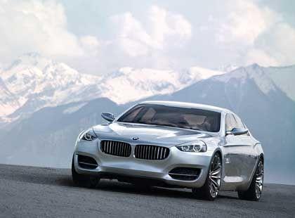 Hoch hinaus: BMW hat sich sportliche Ergebnisziele gesteckt. Die Serienversion der Studie CS (im Foto) soll beim Erreichen derselben helfen.