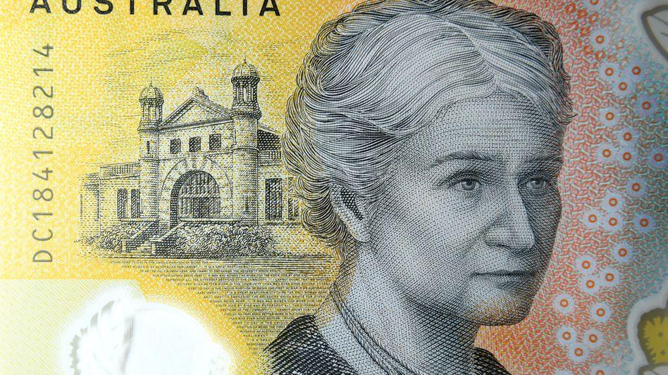 Australische 50-Dollar-Note mit einer Abbildung der australischen Frauenrechtlerin Edith Cowan
