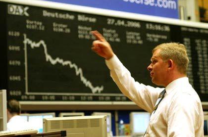 Börse Frankfurt am Main: Binnen eines Handelstages erst Fünfjahreshoch erreicht, dann kräftige Kursverluste verkraftet.