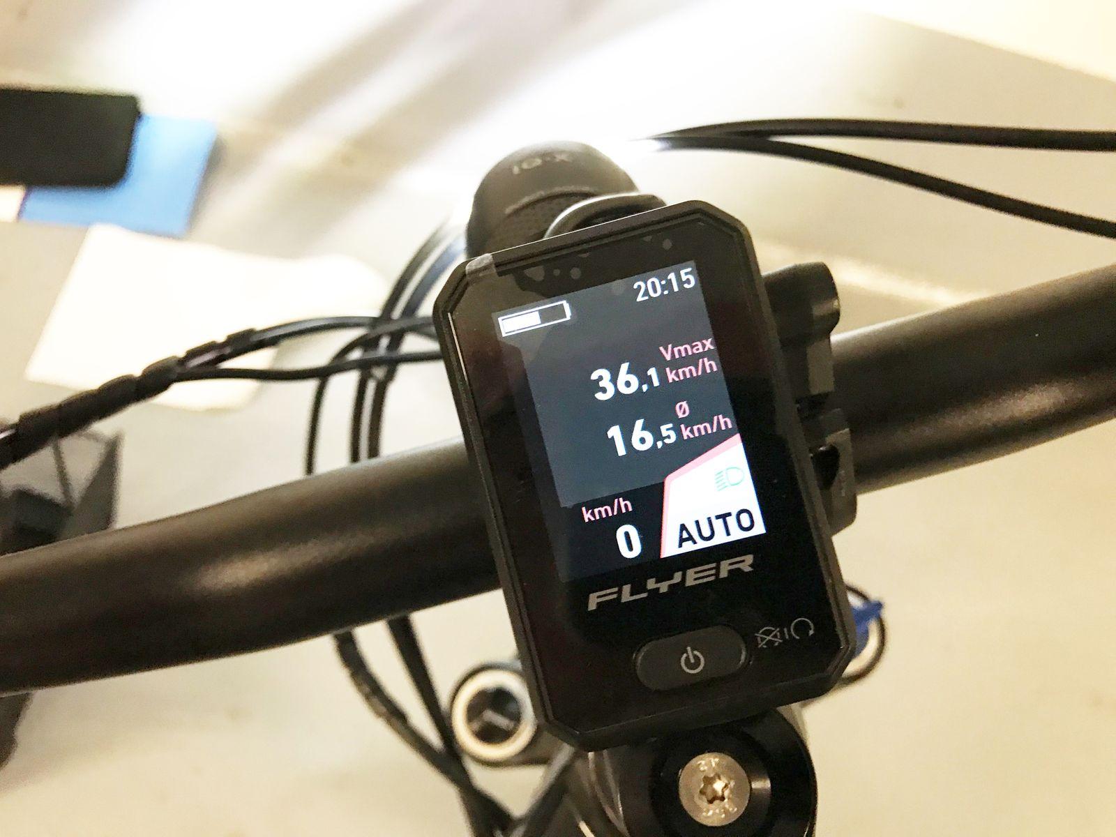 E-Bike Flyer Goroc2 / Tacho