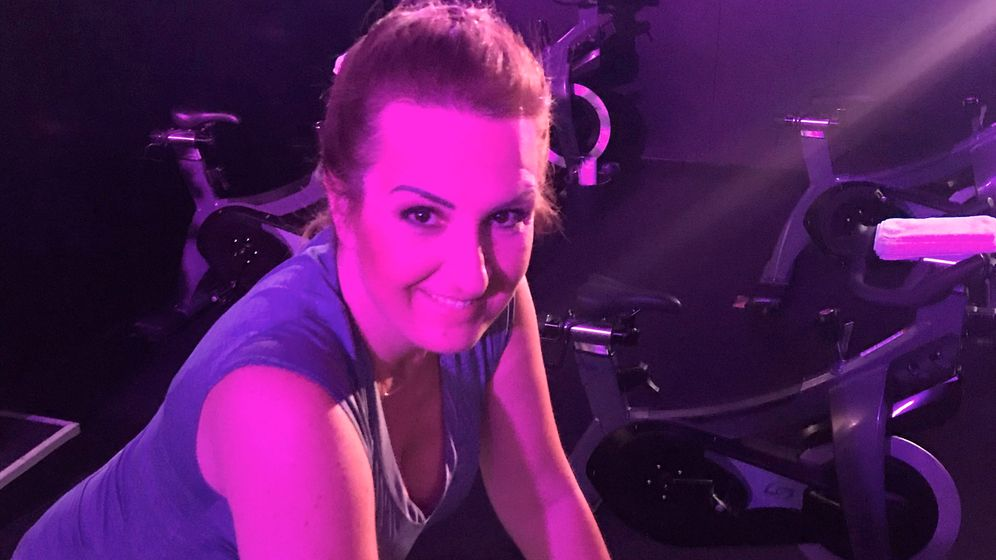 BlackBike: Karen Pascha-Gladyshev beim Training