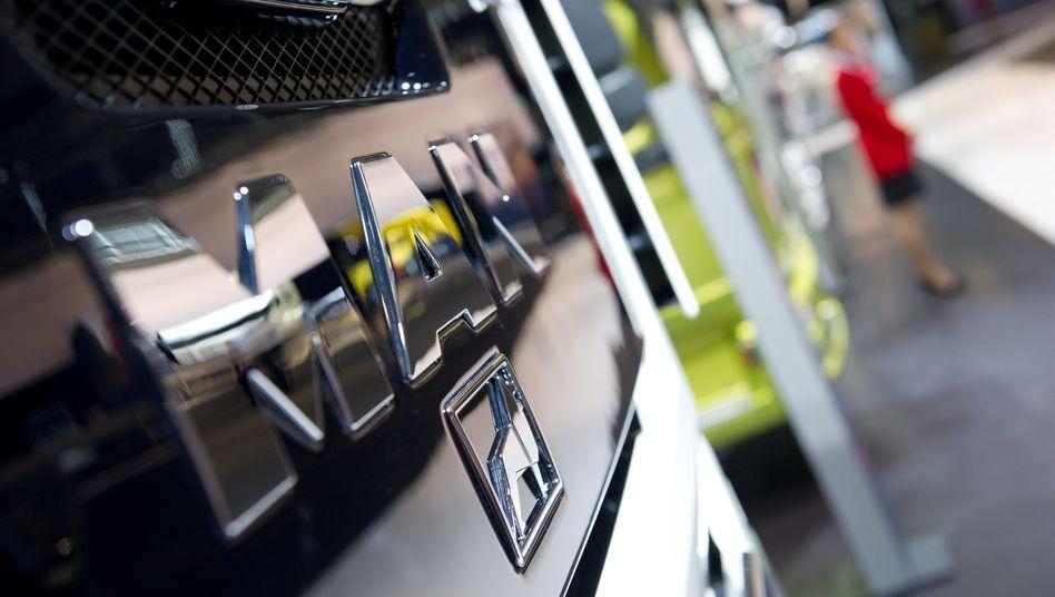 MAN-Logo auf Lkw: Die Branche ist auch wegen der weltweit stark sinkenden Nachfrage nach Lastwagen unter Druck