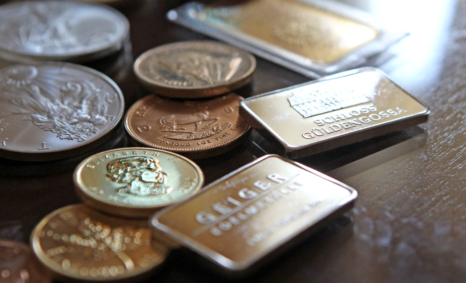 NICHT VERWENDEN Gold Silber Münzen Barren