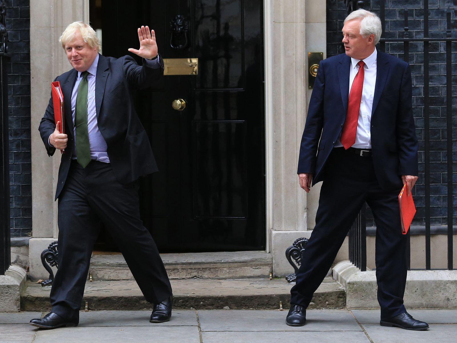 Boris Johnson und David Davis
