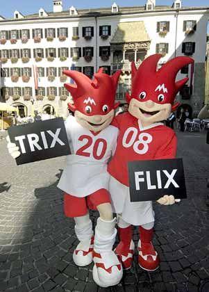 """Für die Maskottchen Trix und Flix ist Geld da: Entwickelt sich das Engagement bei der """"Euro 2008"""" für BenQ zum Eigentor?"""