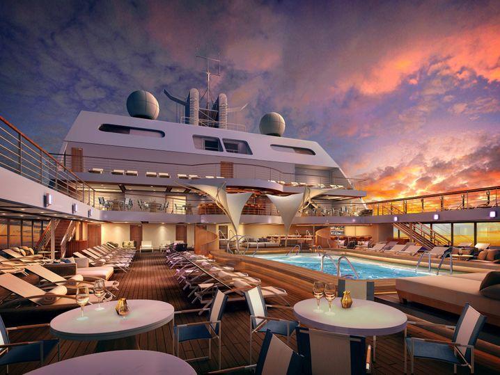 """Besonders viel Freiraum verspricht die Reederei auf der """"Seabourn Encore""""."""