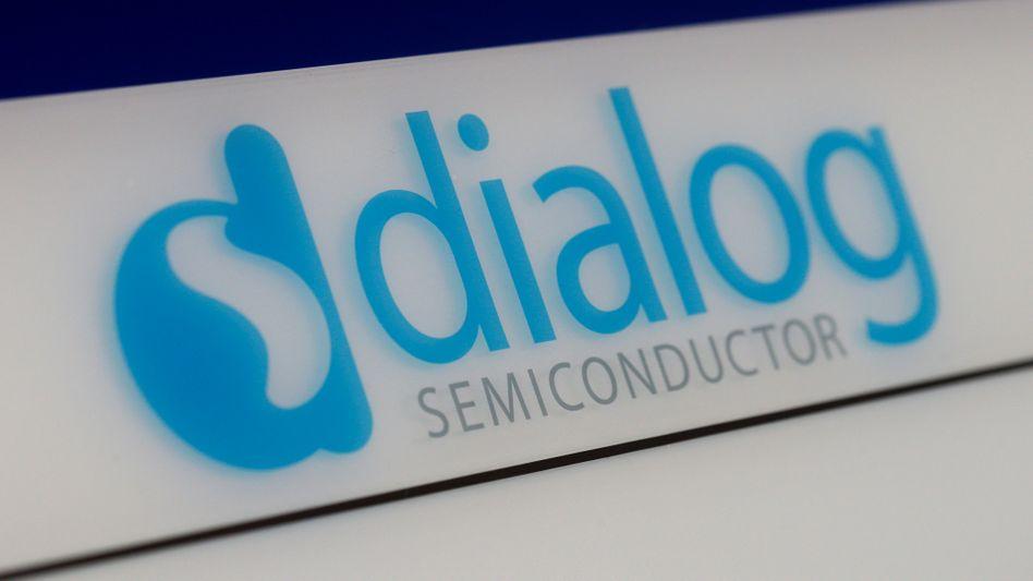 Logo des Halbleiterherstellers und iPhone-Chiplieferanten Dialog Semiconductor