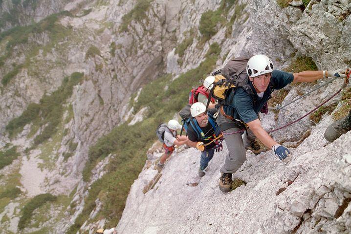 Der Pidinger Klettersteig ist ein langer und anspruchsvoller Steig. Vor allem das letzte Stück erfordert Kraft und Übung.