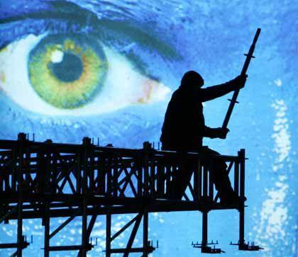 Aufgespiest: Die Vorbereitungen für die Berlinale laufen auf Hochtouren
