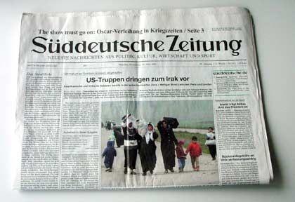 """Die Donnerstagausgabe der """"SZ"""""""