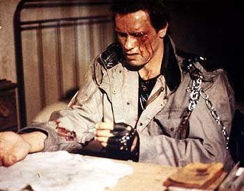 """Gehörte zur Filmbibliothek von IM Internationalmedia: """"Terminator"""", hier ein Bild von Hauptdarsteller Arnold Schwarzenegger"""
