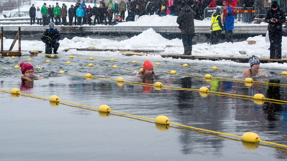 Eisbaden: Auf Kälte-Kurs in Nordschweden