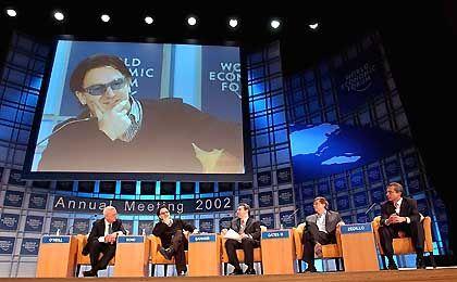 Einsatz für Afrika: Rocksänger Bono auf dem WEF