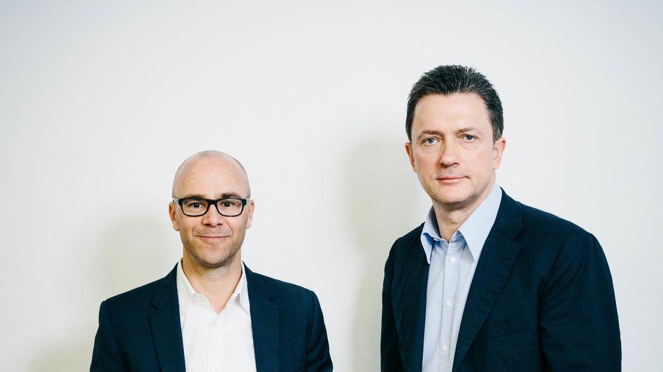 Raketenmänner: Gemeinsam mit seinem Co-Chef Christian Schmalzl (l.) treibt Großaktionär Udo Müller die Börsenbewertung von Ströer in die Höhe