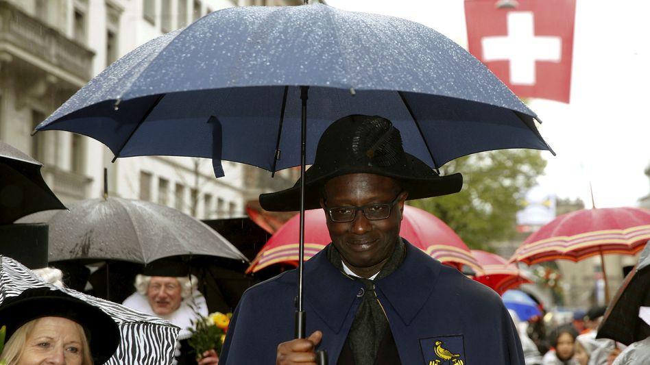 Vorstandschef Tidjane Thiam bei einer Parade in Zürich