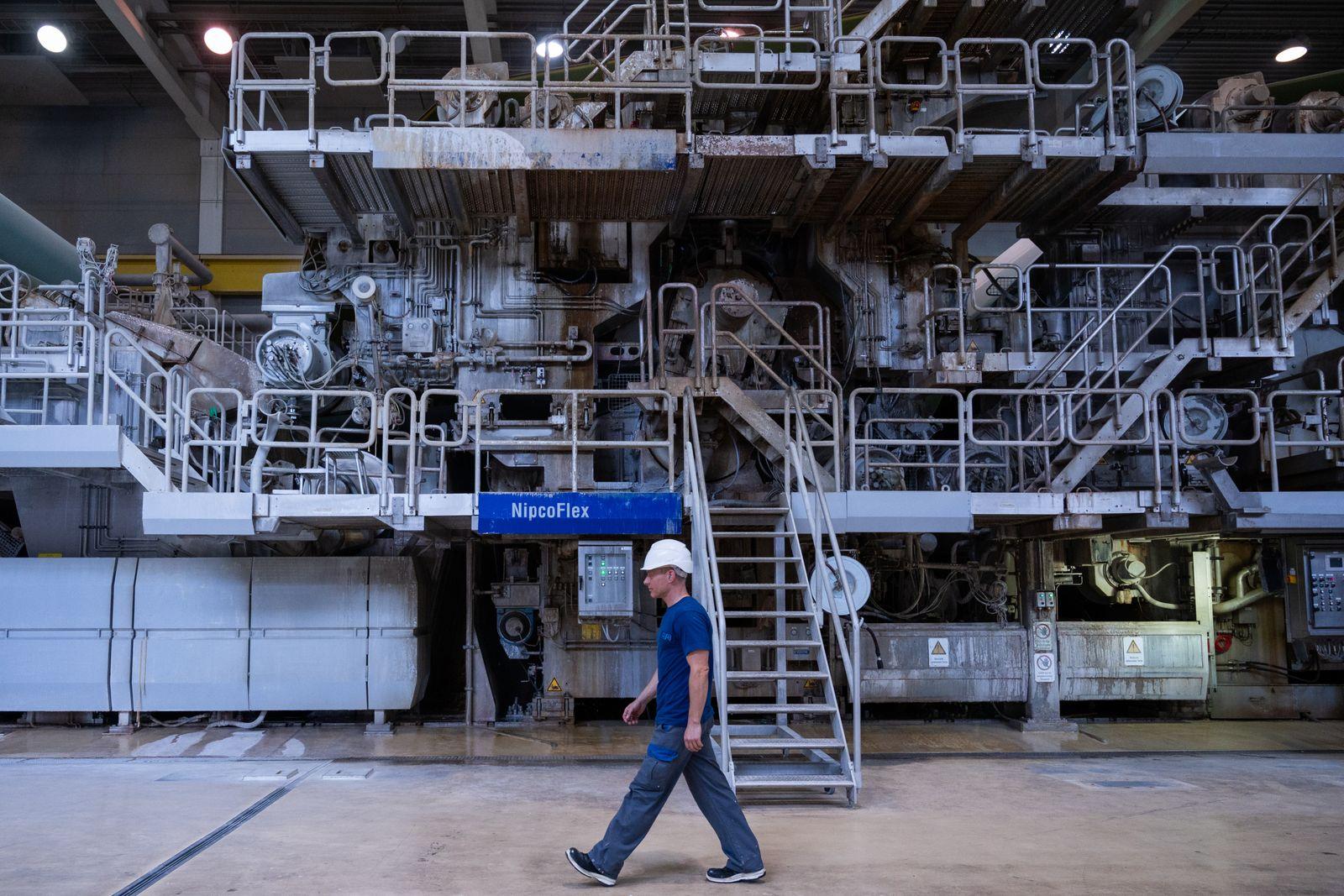 Papierfabrik Leipa in Schwedt/Oder