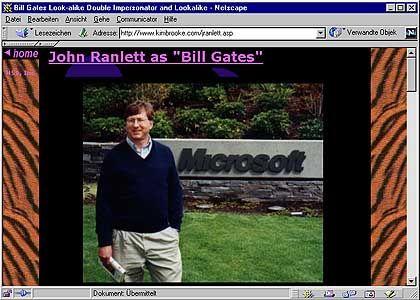 John Ranlett: Das Rennen unter den Imitatoren macht der, der auch mit Gates' körperlichen Veränderungen mithält