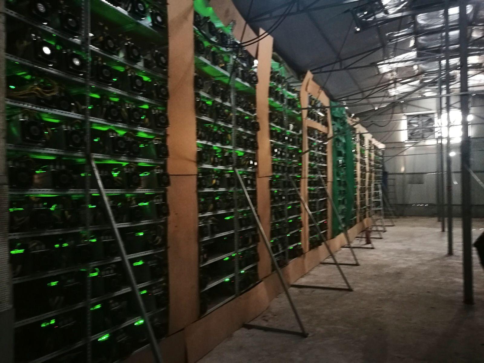 Bitcoin farm in China