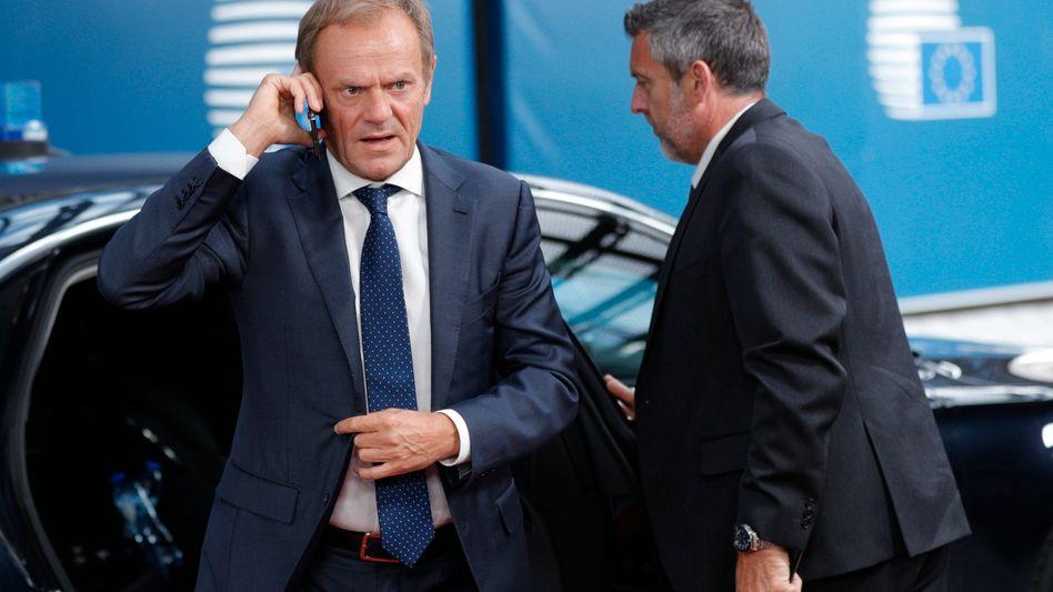 EU-Ratschef Donald Tusk: Der Brief von Boris Johnson enthält nach Ansicht von Tusk nichts Neues