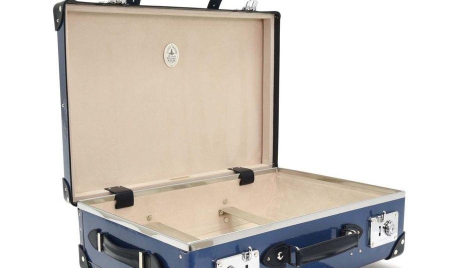 """VON PAPPE 14 Schichten vulkanisierte Faserplatten: Koffer """"Sapphire Blue"""" ab 3450 Euro"""