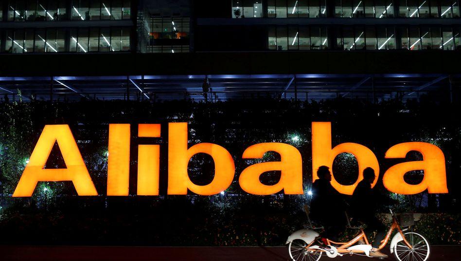 Alibaba-Logo: Der Konzern weitet sein Logistikgeschäft aus