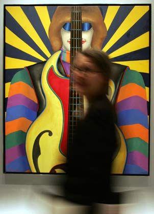 """Klangvisionen: Das Bild """"Rock-Rock"""" (1966-67, Öl auf Leinwand) von Richard Lindner"""