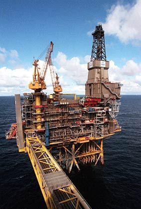 Preise von 58 Dollar pro Barrel möglich: Ölplattform in der Nordsee