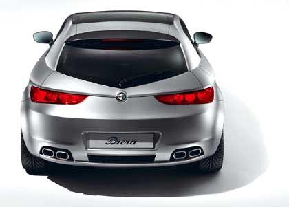 Gute Aussichten auf eine Serienproduktion: Der Alfa Romeo Brera, in Genf noch als Studie, soll eine neue Baureihe begründen