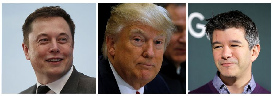 3er Kombi / Trump / Musk / Kalanick