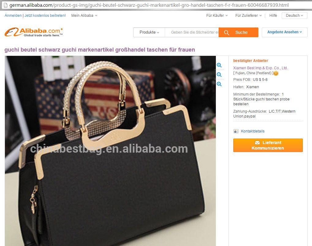 NUR ALS ZITAT ALIBABA / Plagiat / Gucci / Handtasche