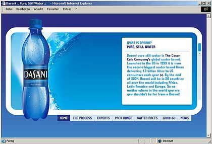 Coca-Cola-Marke: Dasani soll in 120 Ländern eingeführt werden