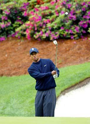 Den dritten Sieg in Folge vor Augen: Tiger Woods beim Masters in Augusta