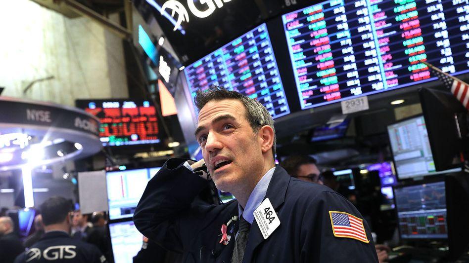 Börse in New York: Der Dow Jones bricht ein