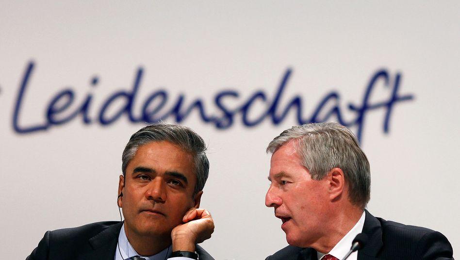 """""""Die Zerlegung wäre das mutigere Modell gewesen"""": Co-Chefs der Deutschen Bank, Jain (l.) und Fitschen"""