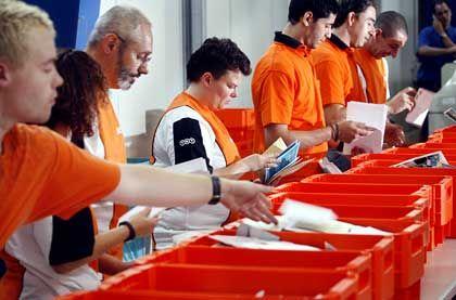 TNT Post ist eine Tochter der niederländischen Post TNT und von Hermes