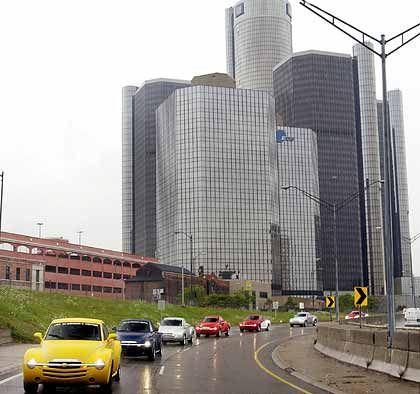 """GM-Zentrale in Detroit: """"Aus der amerikanischen Automobilindustrie wird eine Automobilindustrie in Amerika"""""""