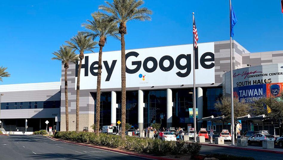 Ein Google-Plakat in Las Vegas