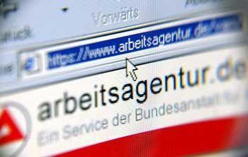 Triste Zahlen: Auch das Service-Portal Arbeitsagentur.de hat die Misere nicht entschärft