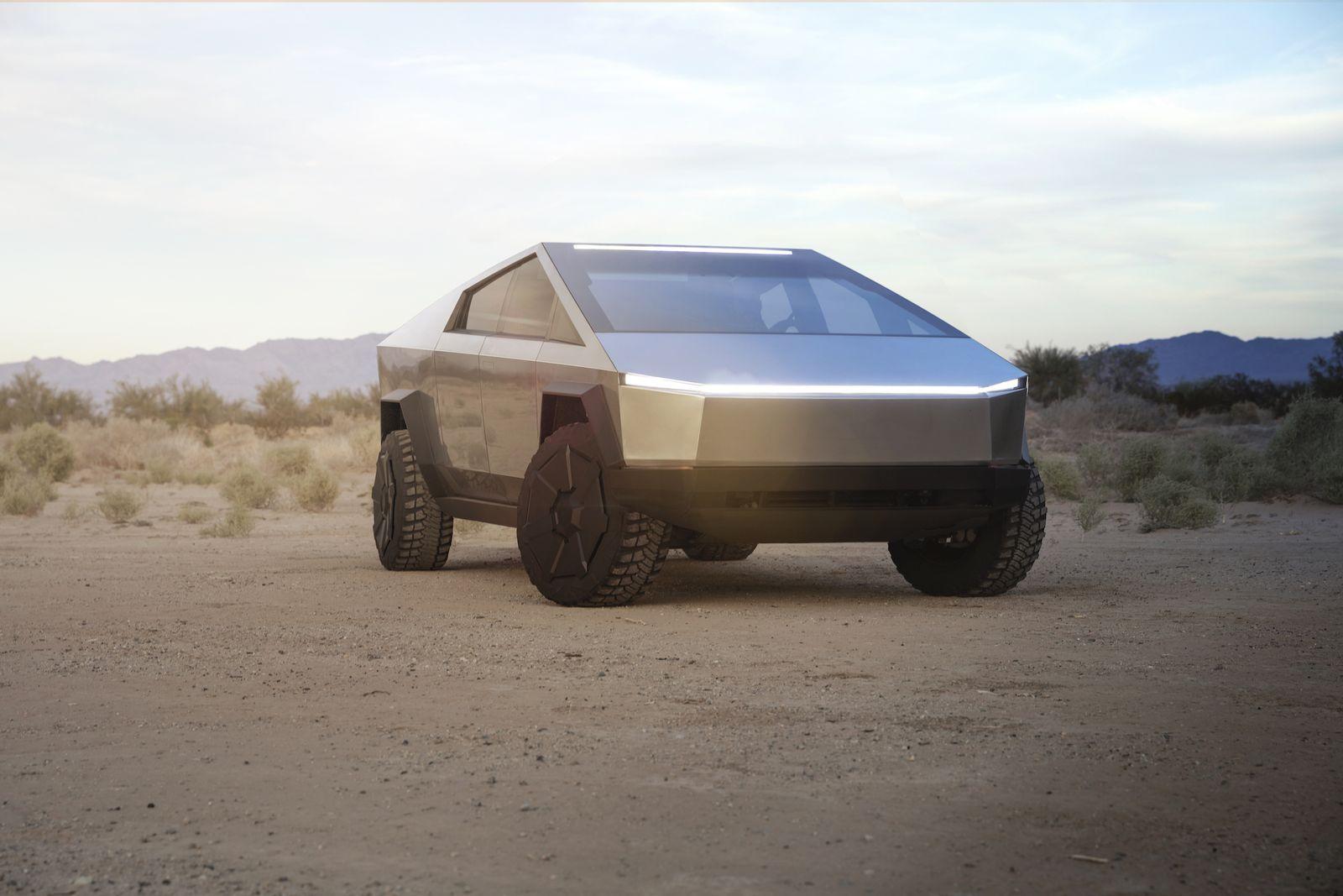 Cybertruck Tesla / Frontansicht
