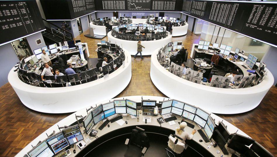 """Börse in Frankfurt: Die Fed hat ihr """"Quantitative Easing"""" abgeschlossen - das Kaufprogramm für Wertpapiere läuft diesen Monat aus"""