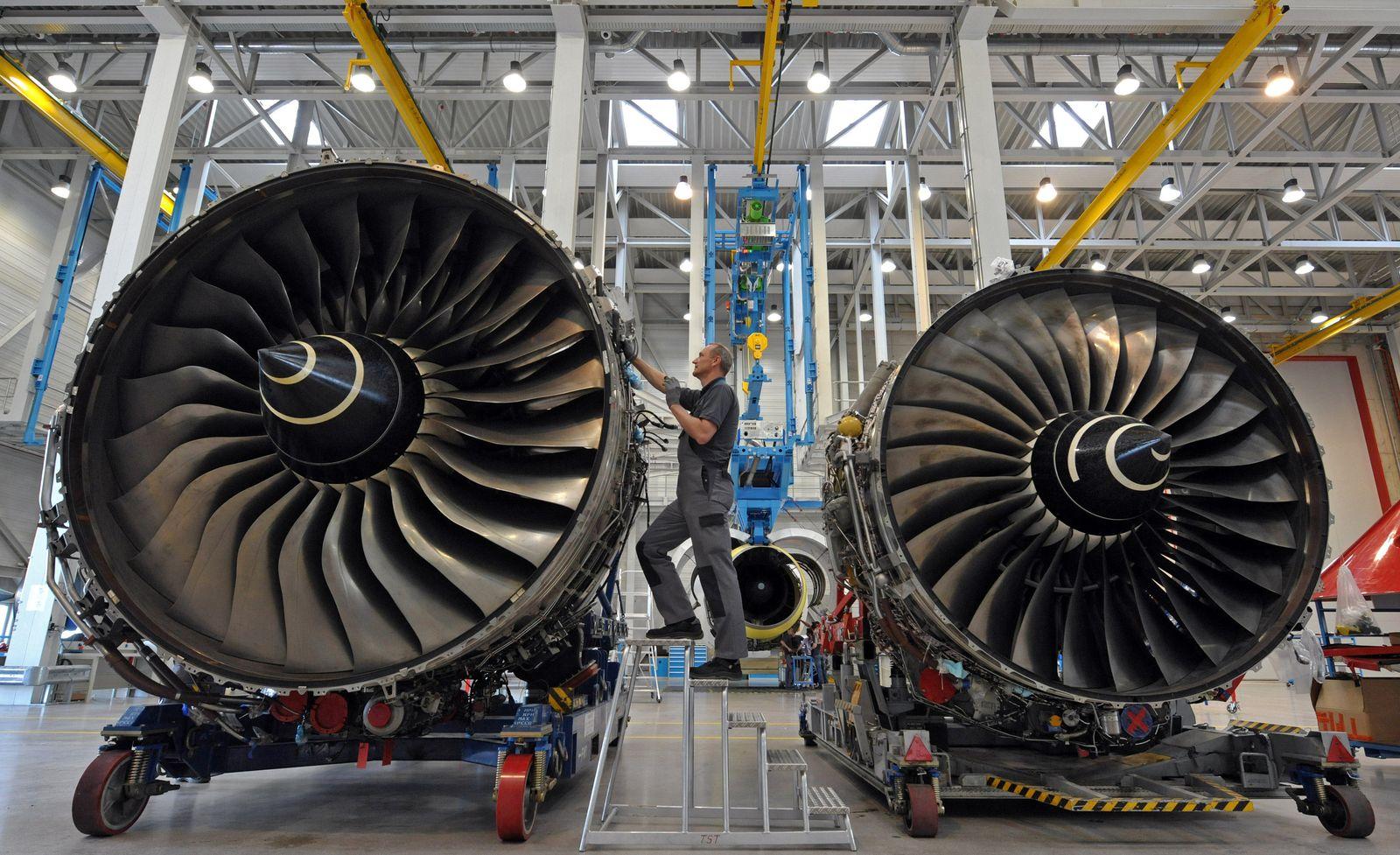Flugzeug / Wartung / Reparatur / Triebwerk