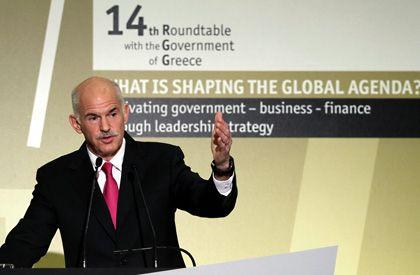 """Regierungschef Papandreou: """"Harte aber notwendige Opfer, ohne die Griechenland bankrott gehen würde"""""""