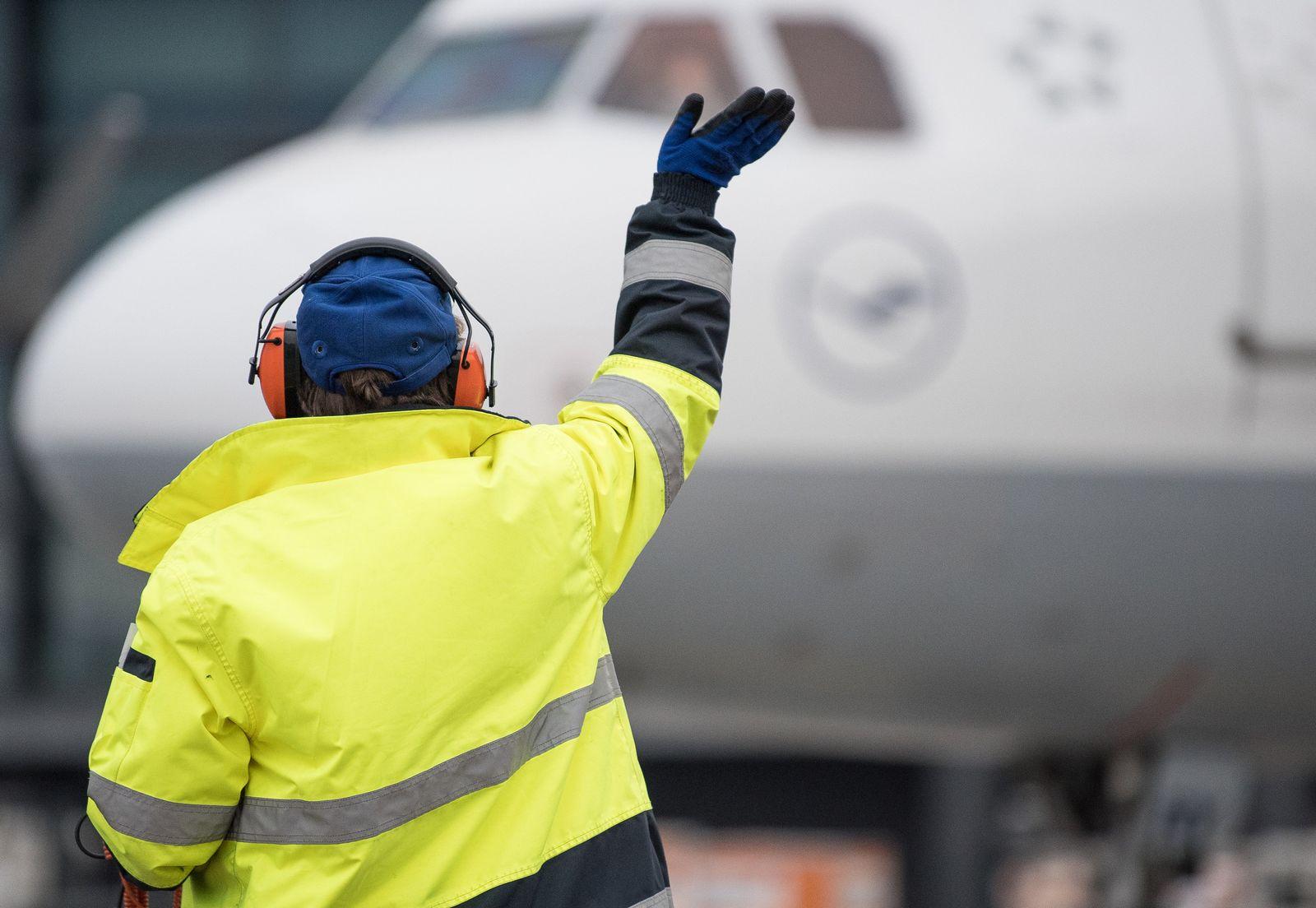 Bodenpersonal am Frankfurter Flughafen