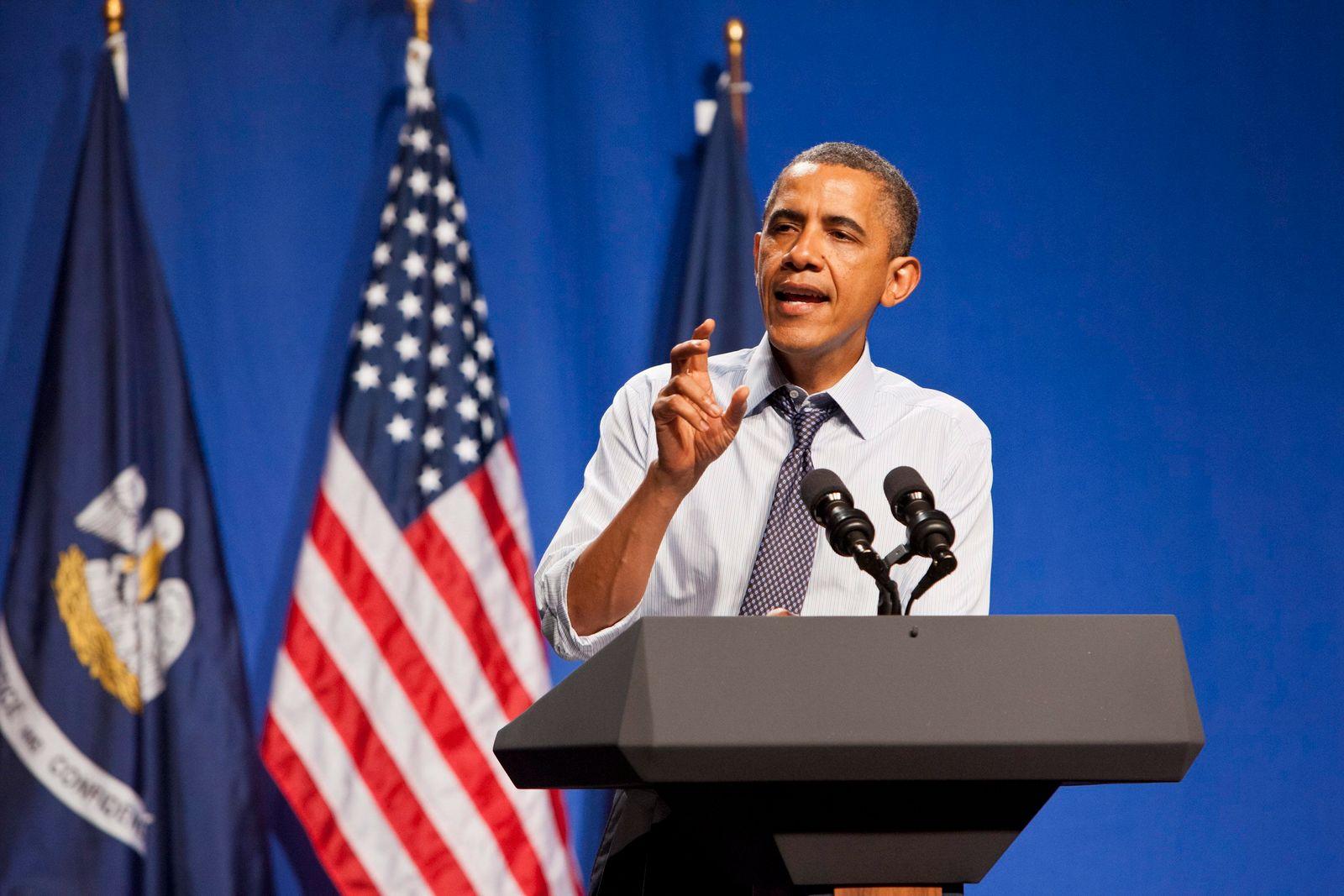 US President Barack Obama in New Orleans