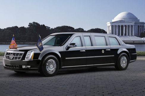 Der Cadillac One:Das Dienstfahrzeug des neuen US-Präsidenten wartet mit Gimmicks auf, die James Bond zur Ehre gereichen würden